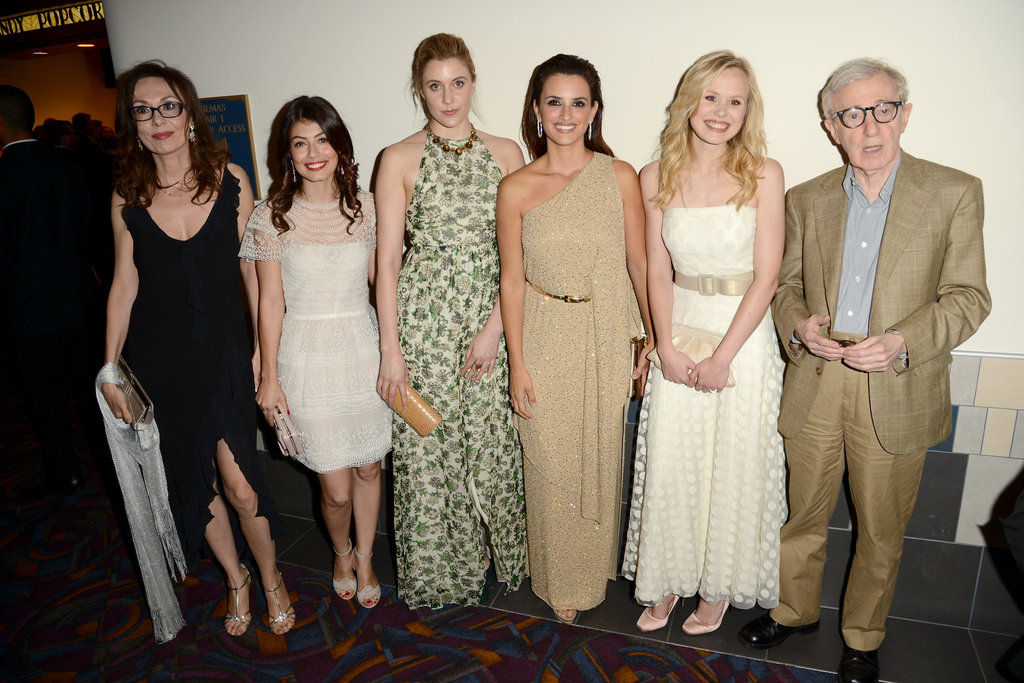 Penelope Cruz, Greta Gerwig, Alison Pill, Alessandra Mastronardi, Simona Caparrini, and Woody Allen linked up at the premiere of To Rome With Love in LA.
