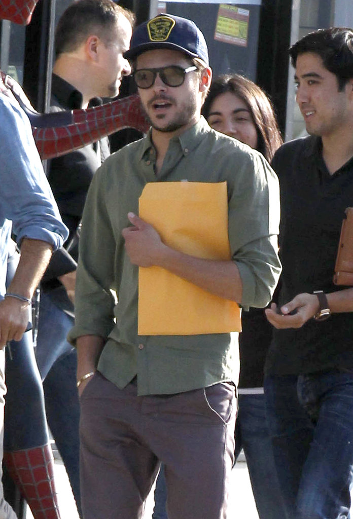 Zac Efron left a meeting in LA carrying a script.