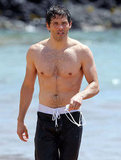 James Marsden showed off his buff body on the beach in Hawaii.