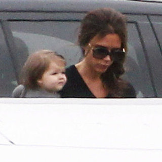 Victoria Beckham and Harper Beckham Private Jet Pictures