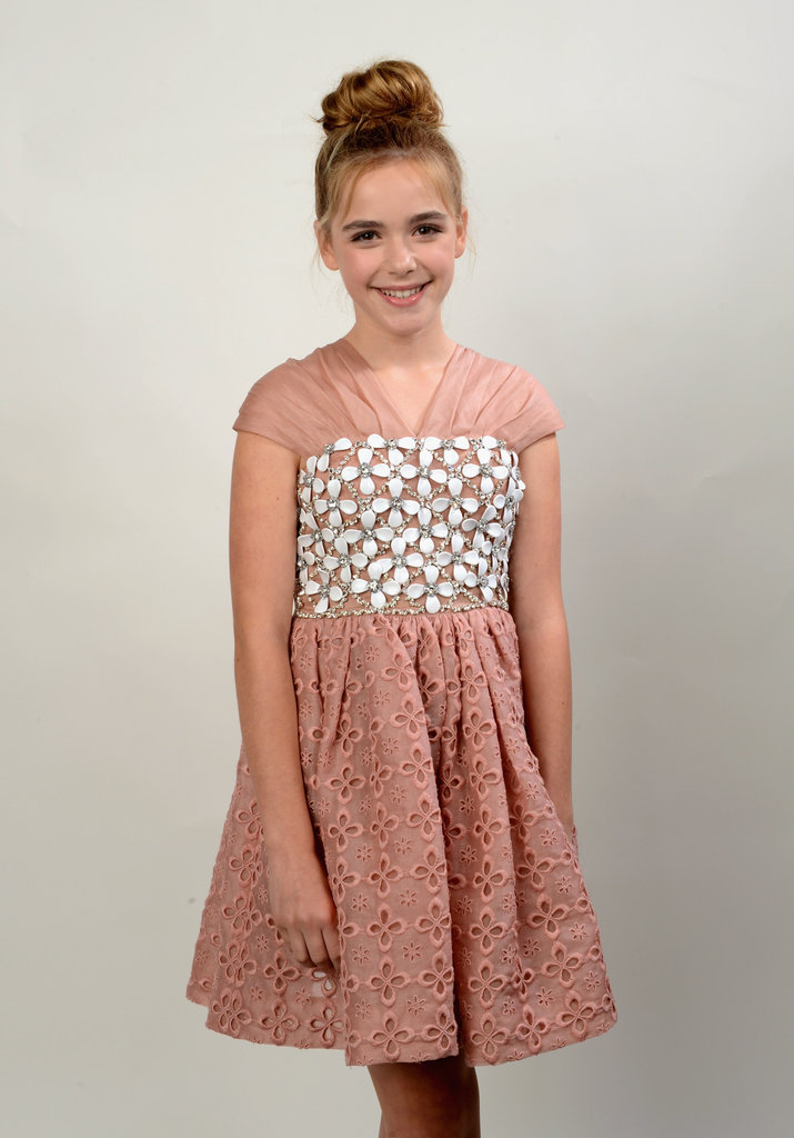 Kiernan Shipka looked pretty in pink.