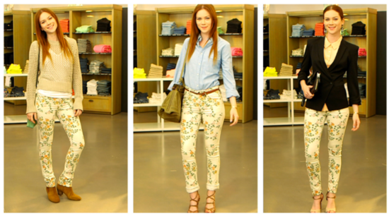 One Pair of Printed Jeans 3 Ways