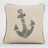 If you could gift him a boat you would. Until then, keep seafaring him happy with this Anchors Away Throw Pillow ($27).