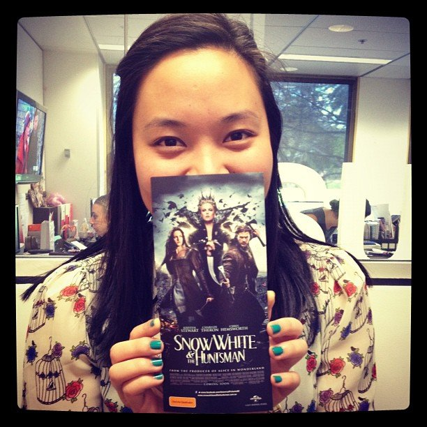 Jess got invited to see Snow White and the Huntsman.