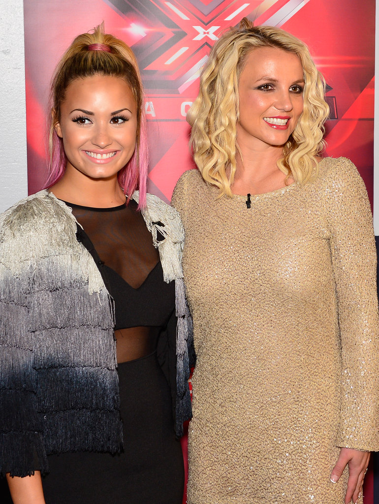 Britney Spears and Demi Lovato Bring Their Judging Ways to the Bay Area