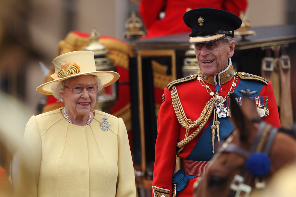Prince Philip and Queen Elizabeth attended the Trooping the Colour ceremony in London.