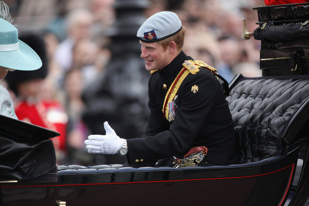 Prince Harry looked dapper at the Trooping the Colour ceremony in London.