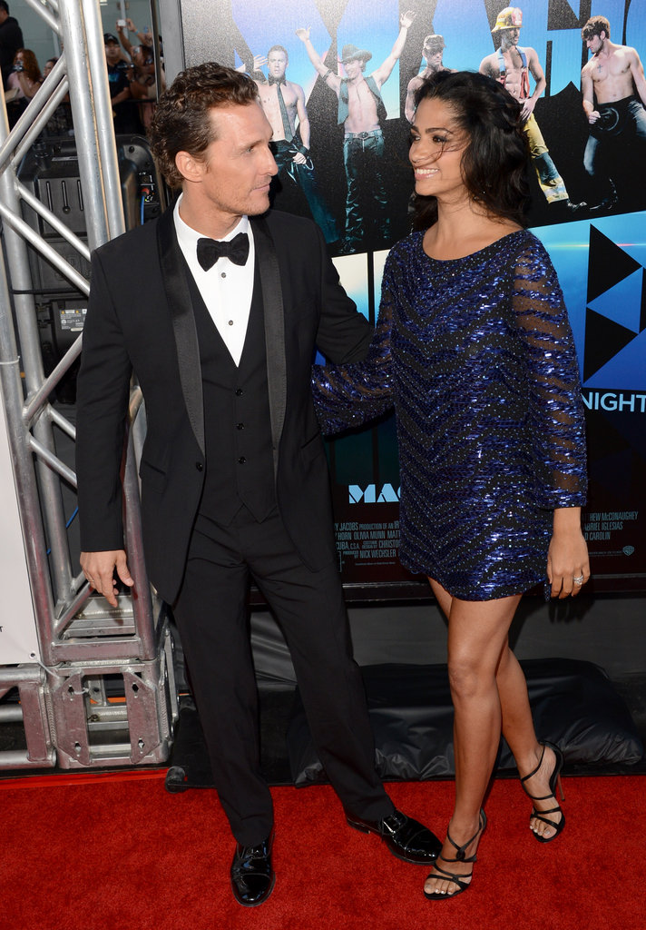 Matthew McConaughey and Camila Alves were red carpet ready and looking great at the LA premiere of Magic Mike in June 2012.