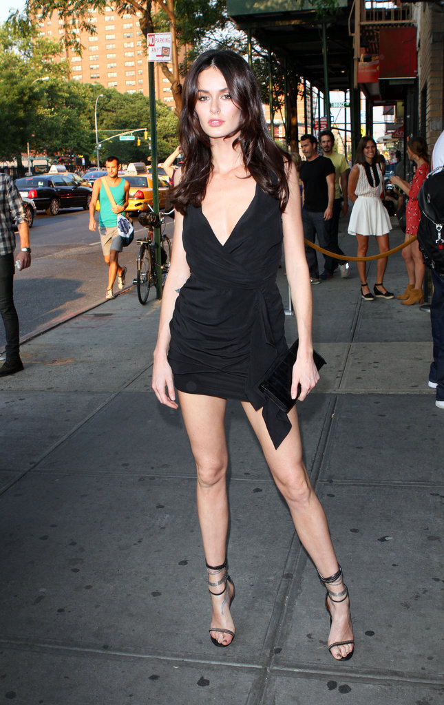"Aussie model Nicole Trunfio was a walking, talking example of the term ""sex on legs"" this week at the Take This Waltz premiere. One-strap heels, be ours?"