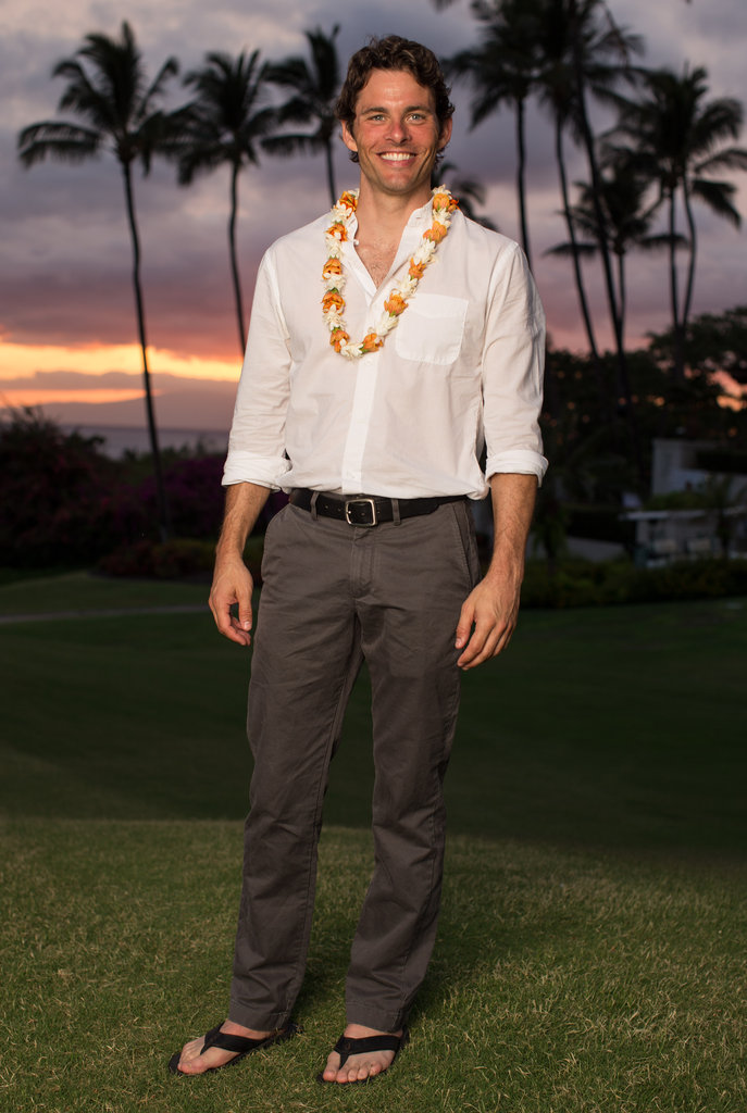 James Marsden posed at the 2012 Maui Film Festival.