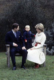 Prince Charles and Princess Diana had a portrait session with a young Prince William at Kensington Palace in December 1983.