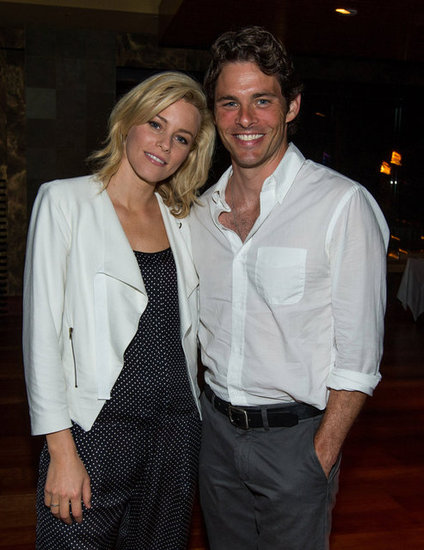 James Marsden said hello to Elizabeth Banks at the 2012 Maui Film Festival.
