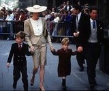 Prince William and Prince Harry went with their parents to a wedding in Bath in May 1989.