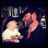 "Tori Spelling posted a photo of husband Dean McDermott with their son, writing, ""One of my fave memory pics!"" Source: Instagram User torianddean"
