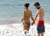 Julia Jones wore a bikini at the beach with boyfriend Josh Radnor.