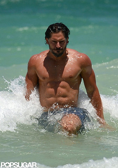 Joe Manganiello showed off his shirtless body in Miami.