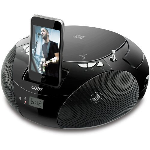 Coby CSMP142 Portable CD Boombox For iPod ($37)