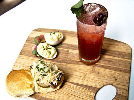 Father's Day Recipes:Bacon Deviled Eggs, pork belly sliders and Lowcountry Iced Tea