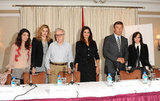 Alessandra Mastronardi, Greta Gerwig, Woody Allen, Penélope Cruz, Alec Baldwin, and Ellen Page attended a To Rome With Love press conference in NYC.