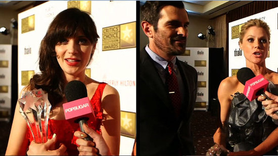 Video: Zooey Deschanel, Modern Family — We Chat With Your Favorite TV Stars at Critics' Choice!