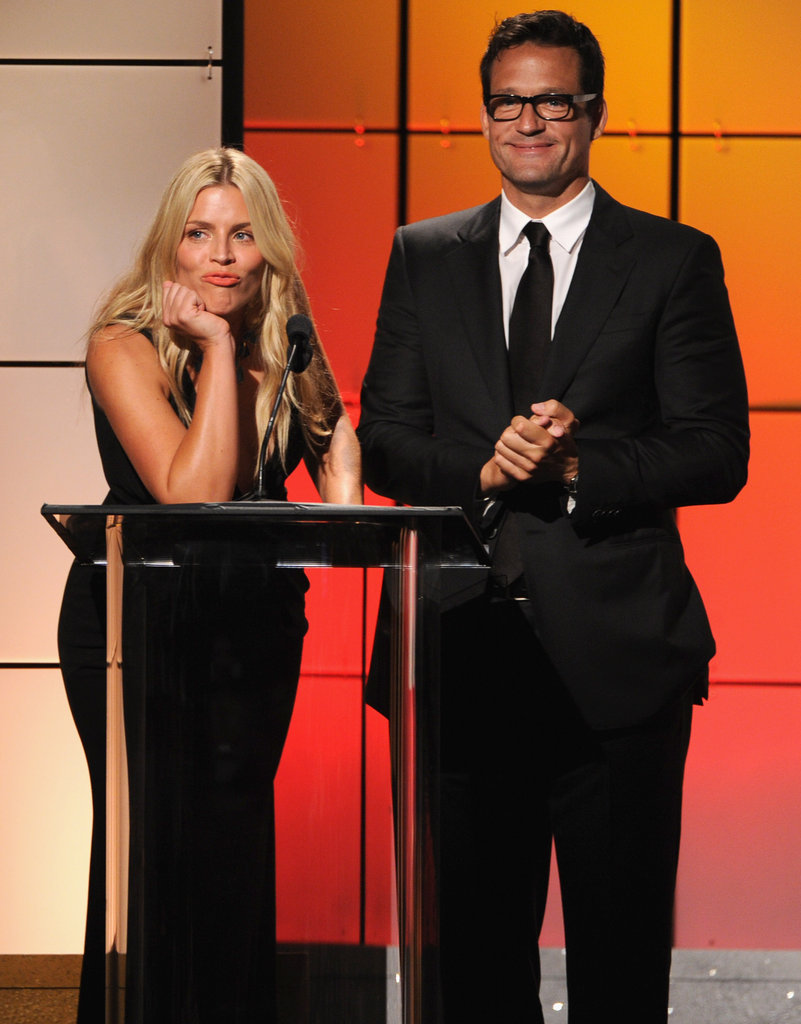 Busy Philipps got animated on stage with Josh Hopkins at the Critics' Choice Television Awards in LA.