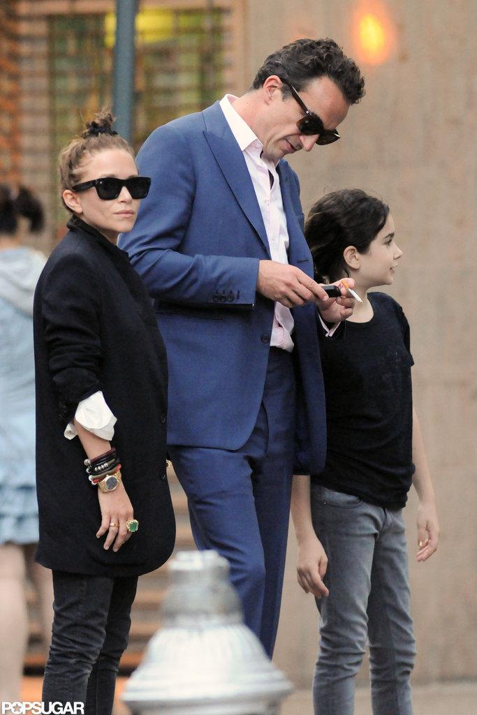 Mary-Kate Olsen was with boyfriend Olivier Sarkozy.