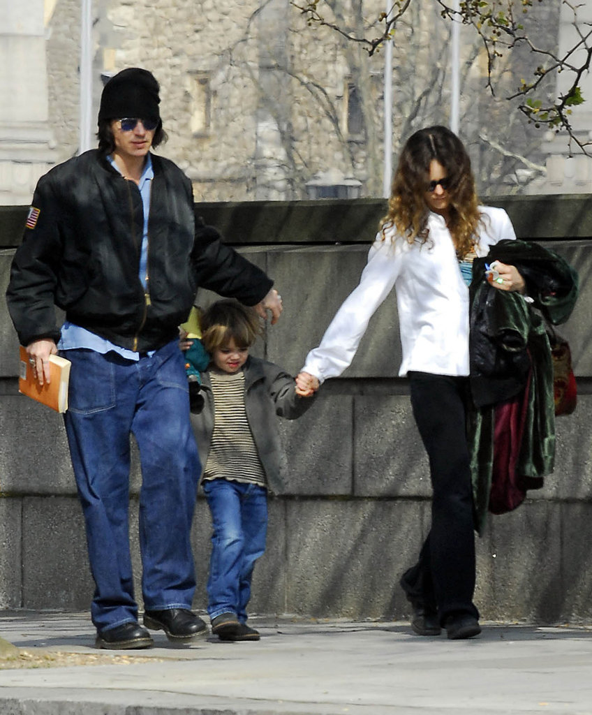 Johnny Depp and Vanessa Paradis walked in London with son Jack in April 2007.