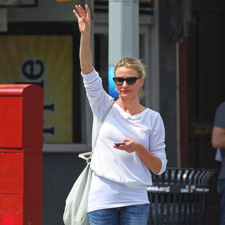 Cameron Diaz Taxi Pictures in NYC