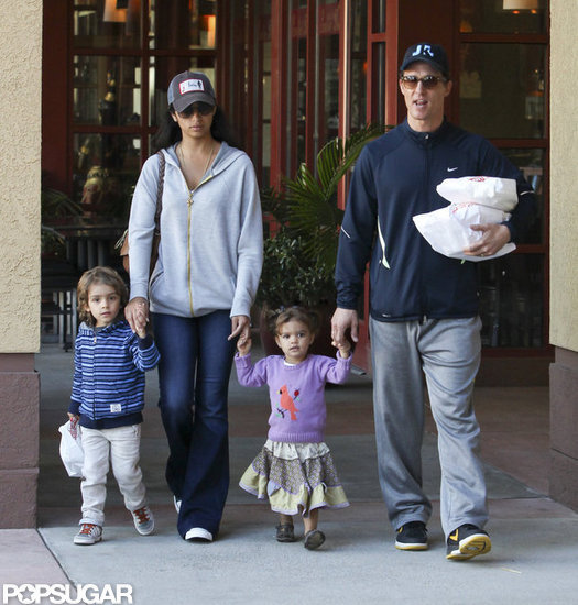 Matthew McConaughey Returns to LA With His Wife and Kids