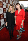 Drew Barrymore was arm in arm with Diablo Cody for the LA premiere of Seeking a Friend For the End of the World.