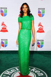 We couldn't think of anyone better to wear this sequined kelly green Elie Saab gown than Zoe — her 2011 Latin GRAMMY Awards gown made us green with envy.