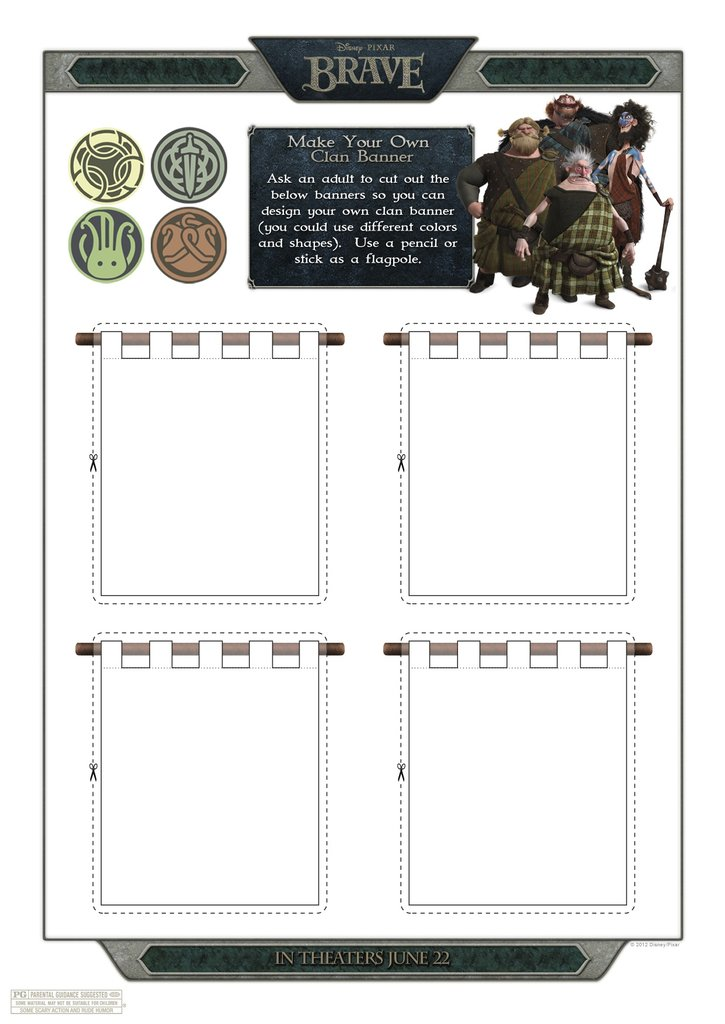 DIY Clan Banner (free printable)