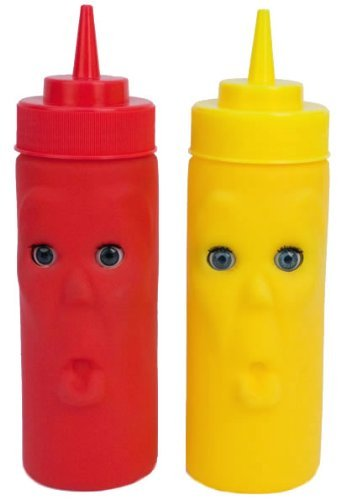 Kikkerland Blink Ketchup and Mustard Bottles