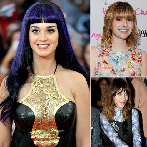 Photos of Celebs With Blunt Bangs Including Alexa Chung, Katy Perry and Emma Roberts