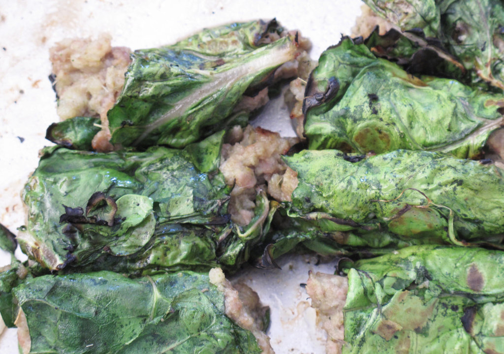 Chard-Wrapped Pork Rolls