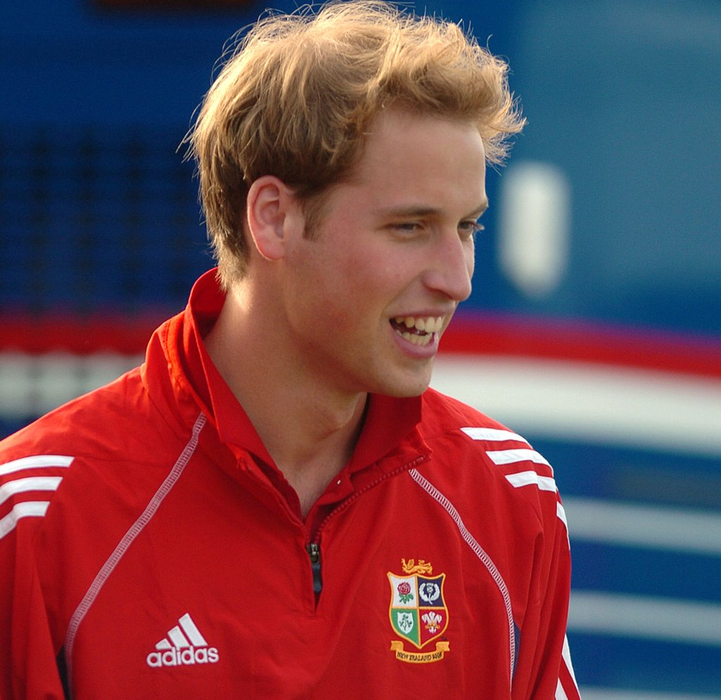 Prince William arrived for a rugby event in New Zealand in July 2005.