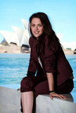 Kristen Stewart posed in Sydney for a photo shoot for Snow White and the Huntsman.