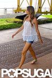 Gisele Bundchen strolled at a photo shoot in Brazil.