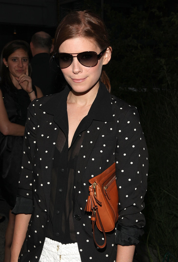 Kate Mara showed off her sunglasses at Coach's Summer Party on the High Line in NYC.