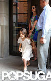 Katie Holmes and Suri Cruise left their hotel in NYC.