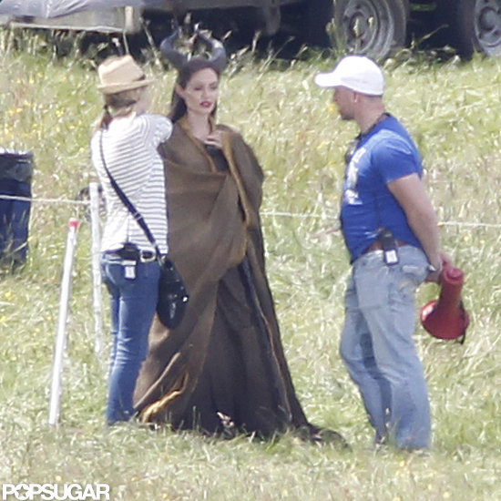 Angelina Jolie worked on Maleficent in the UK.