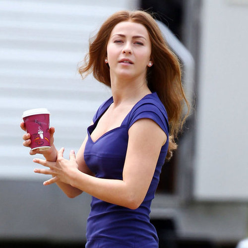 Julianne Hough With Brown Hair Filming Safe Haven Pictures