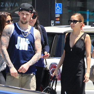 Nicole Richie and Joel Madden Pictures at Lunch in LA