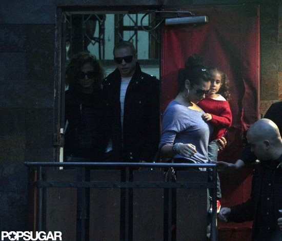 Jennifer Lopez and Casper Smart were spotted out and about in Santiago, Chile, with Emme Anthony along for the trip.