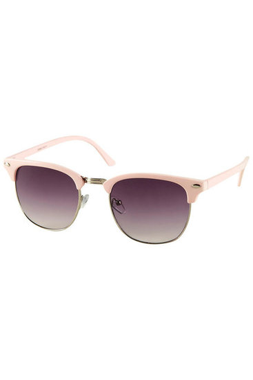 The pastel pink on these shades gives them a sweetly-girlie and retro vibe to pair with sundresses. Topshop Pastel Sunglasses ($32)