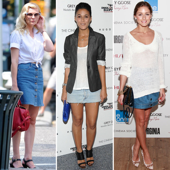 Celebrities Wearing Denim SkirtsHow To Wear Denim Mini Skirt