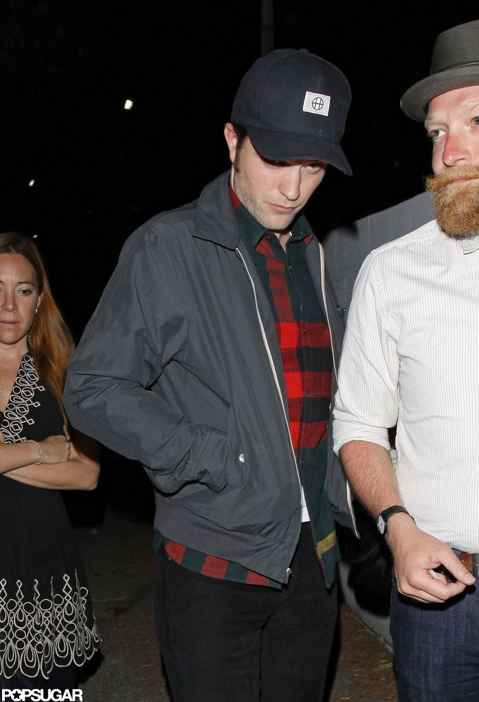 Robert Pattinson left a bar in LA.