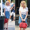 Kirsten Dunst Denim Skirt
