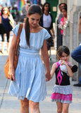 Katie Holmes and Suri Cruise left Whole Foods hand in hand in NYC.