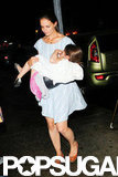 Katie Holmes carried Suri Cruise in NYC.